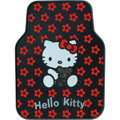 Hello Kitty Universal Automobile Carpet Car Floor Mat Rubber Bear 5pcs Sets - Red