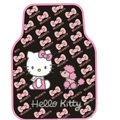 Hello Kitty Universal Automobile Carpet Car Floor Mat Rubber Bow 5pcs Sets - Pink