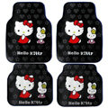Hello Kitty Universal Automobile Carpet Car Floor Mat Rubber Miffy 5pcs Sets - Gray