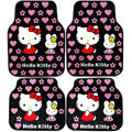 Hello Kitty Universal Automobile Carpet Car Floor Mat Rubber Miffy 5pcs Sets - Pink