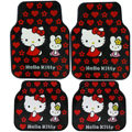 Hello Kitty Universal Automobile Carpet Car Floor Mat Rubber Miffy 5pcs Sets - Red