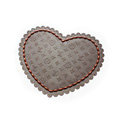LV Automobile Non-Slip Mat PVC Flower Car Anti-Slip Mat Heart - Brown