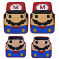 Mario Universal Automobile Carpet Car Floor Mat Rubber M 5pcs Sets - Red