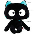 Meow Star People Luminous Auto Doll Car Cushions Plush Cotton Cross-eye - Black