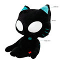 Meow Star People Luminous Auto Doll Car Cushions Plush Cotton ET-eye - Black