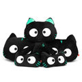 Meow Star People Luminous Doll Auto Interior Set Car Inner Decoration Plush Cotton Cross-eye - Black