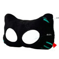 Meow Star People Luminous Doll Auto Neck Pillows Car Headrest Plush Cotton ET-eye - Black