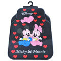 Mickey Minnie Universal Automobile Carpet Car Floor Mat Rubber Disney 5pcs Sets - Red