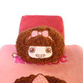 Mocmoc Auto Neck Pillows Car Headrest Plush Cotton Bowknot - Pink