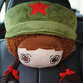Mocmoc Auto Neck Pillows Car Headrest Plush Cotton Hat - Green