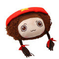 Mocmoc Auto Neck Pillows Car Headrest Plush Cotton Hat - Red
