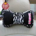 Mocmoc Auto Neck Pillows Car Headrest Plush Cotton Zera - Black