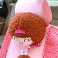 Mocmoc Auto Neck Pillows Cars Headrest Plush Cotton Stripe - Pink