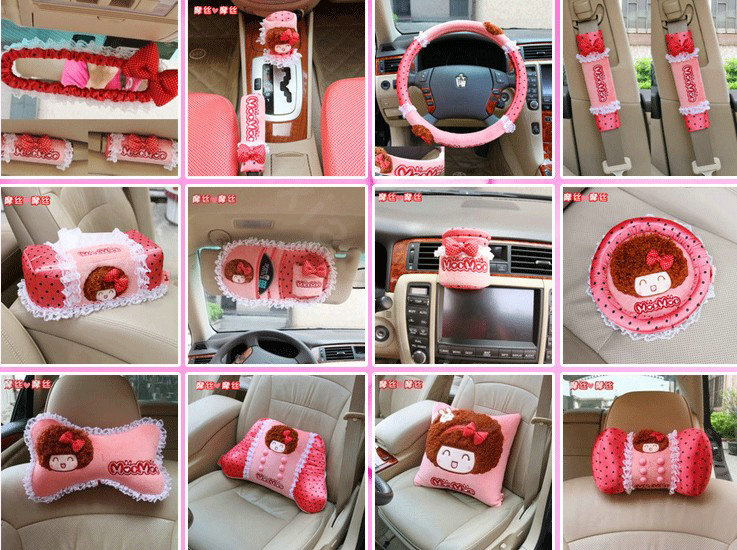 buy wholesale mocmoc car interior set auto inner decoration plush bow 20pcs pink from chinese. Black Bedroom Furniture Sets. Home Design Ideas