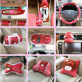 Mocmoc Car Interior Set Auto Inner Decoration Plush Bow 20pcs - Rose