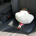 Pig Auto Neck Pillows Car Headrest Plush Cotton Stripe - Red