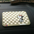 Snoopy Automobile Non-Slip Mat PVC Cartoon Car Anti-Slip Mat Squares - Beige