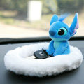 Stitch Automobile Non-Slip Mat Plush Car Anti-Slip Mat Box Staff - White