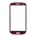 Original Glass Lens Compatible For Samsung Galaxy SIII S3 I9300 - Red