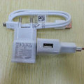 Original Micro USB 2.0 Data Cable + EU Plug Charger For Samsung Galaxy SIII S3 I9300 - White
