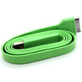 Colored Flat USB Data Cable for iPhone 3G/3GS/4G/4S iPad 2/The New iPad 100CM - Green