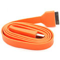 Colored Flat USB Data Cable for iPhone 3G/3GS/4G/4S iPad 2/The New iPad 100CM - Orange