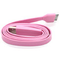 Colored Flat USB Data Cable for iPhone 3G/3GS/4G/4S iPad 2/The New iPad 100CM - Pink
