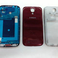 Original Full Set Housing Middle Board Battery Cover for Samsung GALAXY S4 I9500 SIV - Red