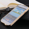 Swarovski Bling Metal Bumper Frame Case Cover for Samsung GALAXY S4 I9500 SIV - Yellow