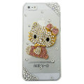 3D Hello kitty diamond Crystal Cases Bling Hard Covers for iPhone 5C - pink