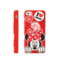 3D Minnie Mouse Cover Disney DIY Silicone Cases Skin for iPhone 5C - Red