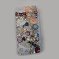 Bling Swarovski crystal cases Beetle Butterfly diamond cover for iPhone 5C - White