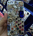 Bling Swarovski crystal cases Peacock diamond cover for iPhone 5C - White