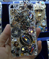 Bling Swarovski crystal cases Saturn diamond cover for iPhone 5C - Black