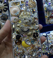 Bling Swarovski crystal cases Teddy Bear diamond cover for iPhone 5C - White