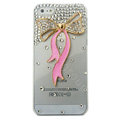 Bowknot Crystal diamond Cases Bling Hard Covers for iPhone 5C - Pink