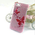 Butterfly diamond Crystal Cases Bling Hard Covers for iPhone 5C - Pink
