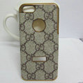 GUCCI leather Cases Luxury Hard Back Covers Skin for iPhone 5C - Brown