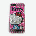 Hello kitty diamond Crystal Cases Bling Hard Covers for iPhone 5C - Rose