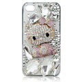 Hello kitty diamond Crystal Cases Luxury Bling Covers for iPhone 5C - Pink
