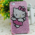Hello kitty diamond Crystal Cases Luxury Bling Hard Covers Skin for iPhone 5C - Pink