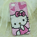 Hello kitty diamond Crystal Cases Luxury Bling Hard Covers for iPhone 5C - Pink