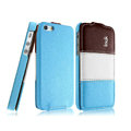IMAK Chocolate Series leather Case Holster Cover for iPhone 5C - Blue