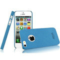 IMAK Cowboy Shell Quicksand Hard Cases Covers for iPhone 5C - Blue (High transparent screen protector)
