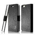 IMAK Slim leather Cases Luxury Holster Covers for iPhone 5C - Black