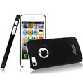 IMAK Ultrathin Matte Color Covers Hard Cases for iPhone 5C - Black (High transparent screen protector)