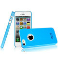 Imak ice cream hard cases covers for iPhone 5C - Blue (High transparent screen protector)