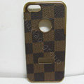 LOUIS VUITTON LV leather Cases Luxury Hard Back Covers Skin for iPhone 5C - Brown