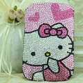 Luxury Bling Holster Covers Hello kitty diamond Crystal Cases for iPhone 5C - Pink EB004