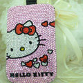 Luxury Bling Holster Covers Hello kitty diamond Crystal Cases for iPhone 5C - Pink EB007